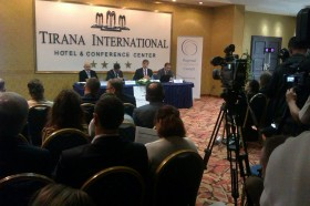 RCC presenting its SEE 2020 strategy, at a workshop in Tirana on 1 October 2013. (Photo RCC∕Dinka Zivalj)